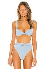 Juillet Izzy Bikini Top in Carolina