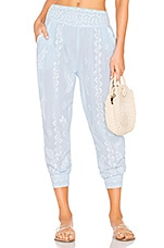 juliet dunn Beach Pants in Pale Blue