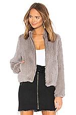 June Fur Bomber Jacket in Dove