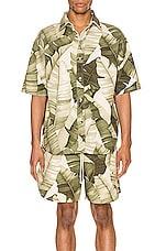 Jungle Kailo Short Sleeve Shirt in Cream Banana Leaf