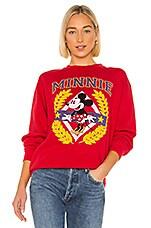 Junk Food Minnie Crest Flea Market Pullover in Red