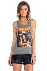 Junk Food Pulp Fiction Triblend Easy Rider Tank in Steel