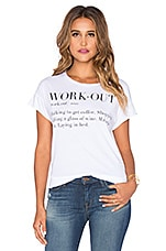 Junk Food Workout Tee in Electric White