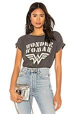 Junk Food Wonder Woman Tee in Vintage Black