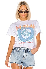Junk Food Def Leppard Adrenalize Tee in White, Bisque & Lavender Tie Dye