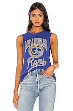 Junk Food NFL Rams Tank in Sugar & Mustard & Liberty