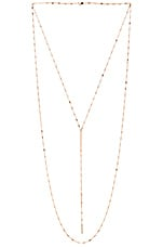Bella White Sapphire Necklace in Yellow Vermeil