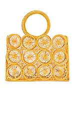 Kaanas Salamina Round Handle Tote in Marigold