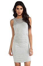 Double Layered Lulu Dress in Grey over Grey