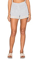 Sandy Short en Chambray & Cream