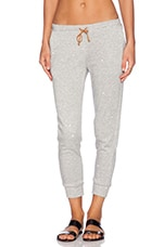 Riley Sweatpant in Heather Grey & White