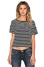 Kain Ruby Tee in Black & White Stripe