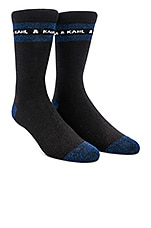 KARL X KAIA Glitter Socks in Black