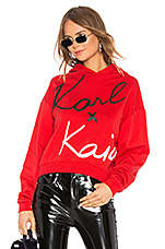 KARL X KAIA Cropped Sweatshirt in Red