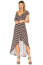 Karina Grimaldi Paulette Maxi Dress in Black Wallpaper