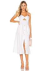 Karina Grimaldi Helen Midi Dress in White