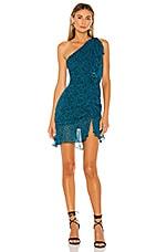 Karina Grimaldi Tana Print Mini Dress in Turquoise Cloud