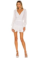 Karina Grimaldi Nora Long Sleeve Mini Dress in White