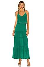 Karina Grimaldi Karina Solid Maxi Dress in Emerald