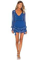Karina Grimaldi Linda Embellished Mini Dress in Blue