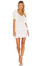 Karina Grimaldi Francis Embellished Mini Dress in White