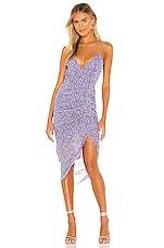 Karina Grimaldi Marisa Print Maxi Dress in Lavender Cloud