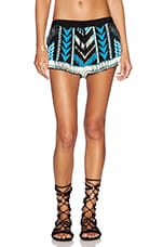 Nylah Beaded Shorts in Black