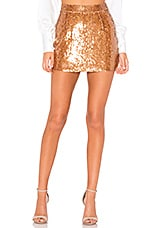 Karina Grimaldi Lara Sequin Skirt in Rose Gold