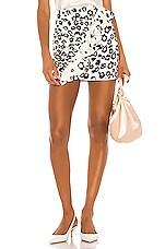 Karina Grimaldi Danielle Print Mini Skirt in Mood Animal