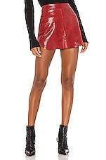 Karina Grimaldi Simon Snake Mini Skirt in Red