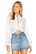 Karina Grimaldi Bella Embellished Top in White