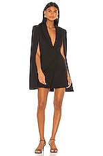 Katie May Boss Lady Mini Cape Dress in Black