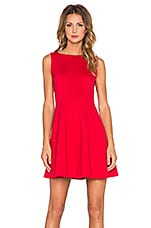 Bow Back Dress in Spicy Red