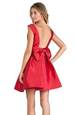 Kate Spade New York Backless Bow Mini Dress in Dynasty Red