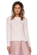 Winter Wool Side Zip Sweater in Blush