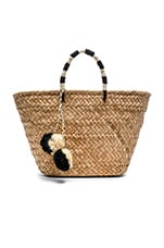 St Tropez Tote Bag in Black & White