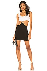 KENDALL + KYLIE Cut Out Mini Dress in Bright White & Black
