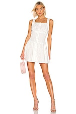 KENDALL + KYLIE Bronderie Anglaise Eyelet Dress in White