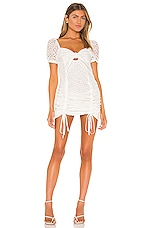 KENDALL + KYLIE Travel Front Tie Dress in White