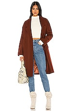 KENDALL + KYLIE Long Coat in Cinnamon