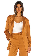 KENDALL + KYLIE Charlie Satin Blazer in Butterscotch
