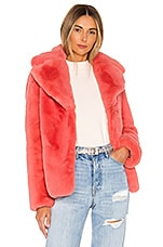 KENDALL + KYLIE Faux Fur Coat in Coral