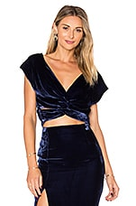 Velvet Twist Top in Midnight Navy