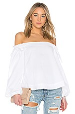 KENDALL + KYLIE Off Shoulder Top in Bright White