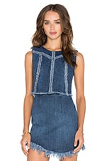 Denim Seamed Top en Jeans