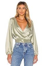 KENDALL + KYLIE Balloon Sleeve Blouse in Jade