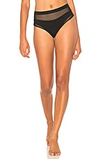 X REVOLVE Mesh High Waisted Bottom in Black