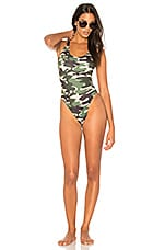 KENDALL + KYLIE X REVOLVE Low Back One Piece in Army Camo