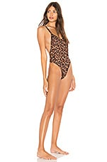 KENDALL + KYLIE Racer Back One Piece in Leopard Print