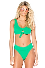 KENDALL + KYLIE x REVOLVE Tie Front Bikini Top in Leaf